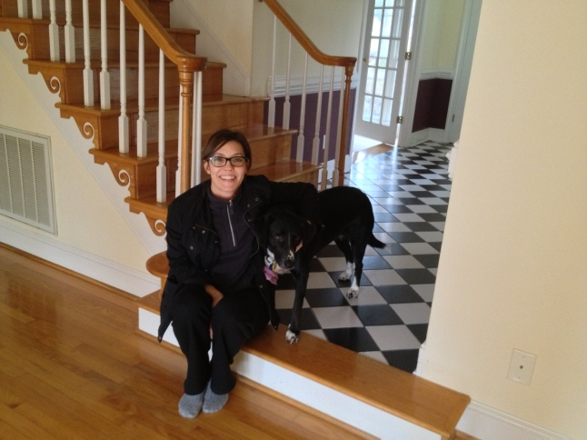 One of the first photos of Molly and me in the new house - March 2013.