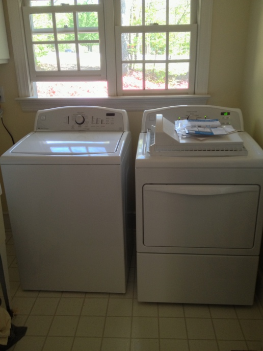 Our first washer and dryer. This was an exciting day.