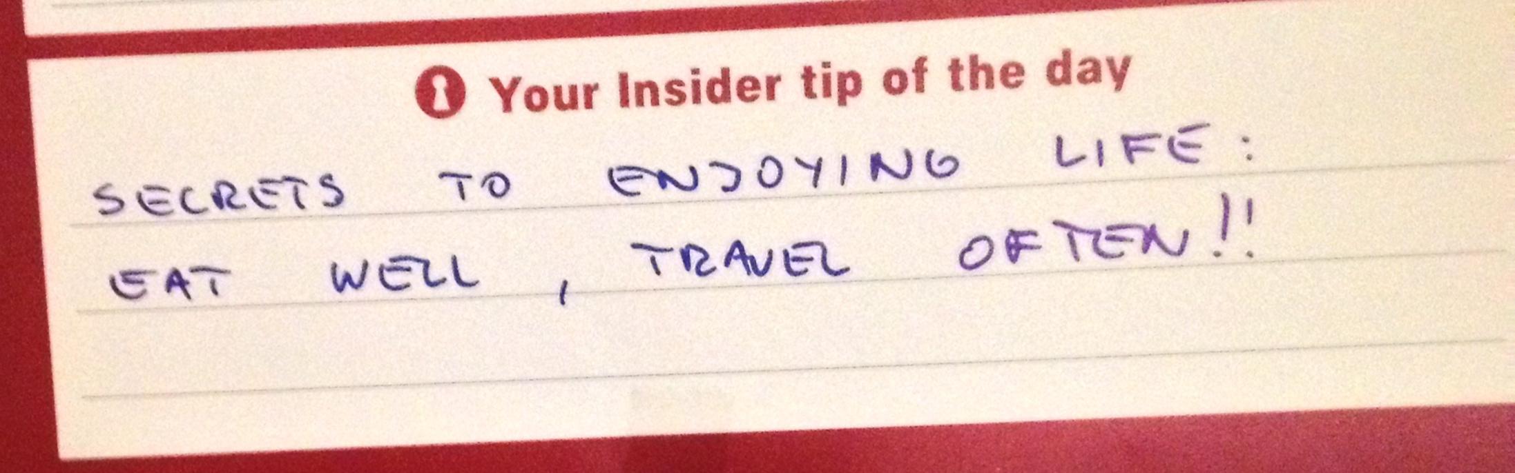 A final travel tip from Muris.
