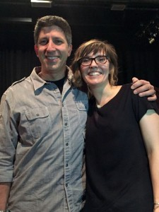 This is me with Jeff, the creator of The Monti, after I performed my story. Jeff is an incredible storytelling coach and helped me craft my story every step of the way. He also believed in me, which helped me believe in me, too.
