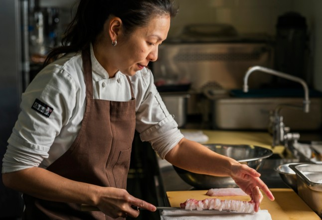 "Chef Nikii Nakayama is featured in ""Chef's Table"" on Netflix. It's all in the nands."