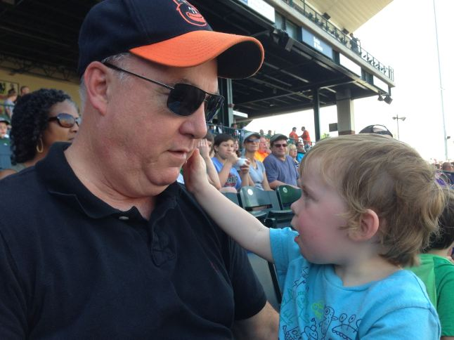 Jack and one of his grandsons at a recent Grasshoppers game.