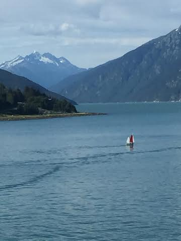 sailboat in alaska
